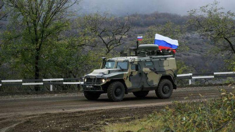 Guardias rusos en frontera noreste entre Armenia y Azerbaiyán
