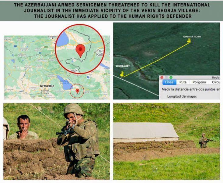Militares azerbaiyanos amenazaron con matar a periodista extranjero