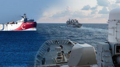 Turquía mueve barcos y Grecia tropas